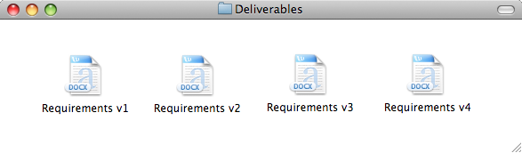 Deliverables and versions