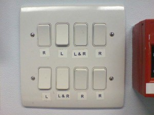 Badly labelled light switches