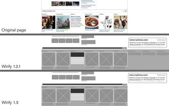 The New York Times - Original vs Wirify 1.2.1 vs Wirify 1.3