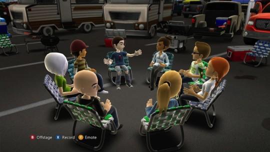 A virtual meeting organised using Microsoft's Avatar Kinect